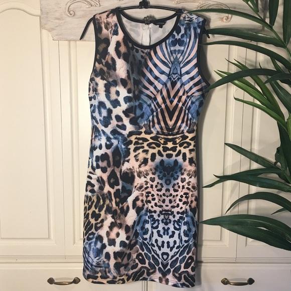 Cocoom Dresses & Skirts - Cocoon Animal Print Sleeveless Dress Sz L